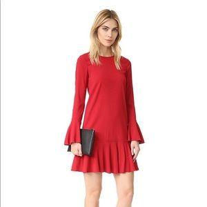 Theory Marah Bergen Dark Vermillion Dress